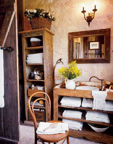 Rustic Bathroom Vanities on Rustic Bathroom   The Vintage Home